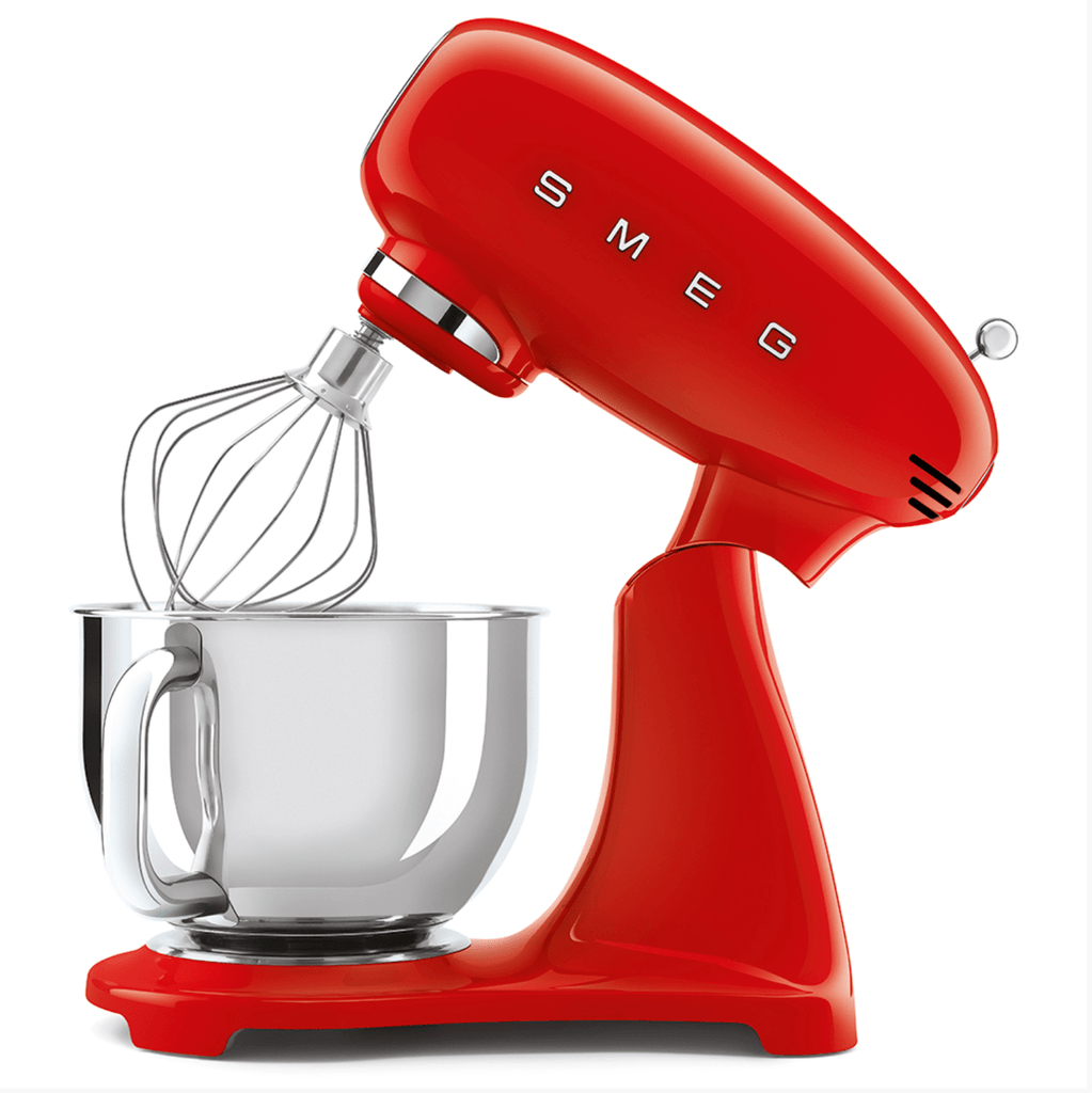 SMEG 4.8L Full Colour Electric Stand Mixer - Red