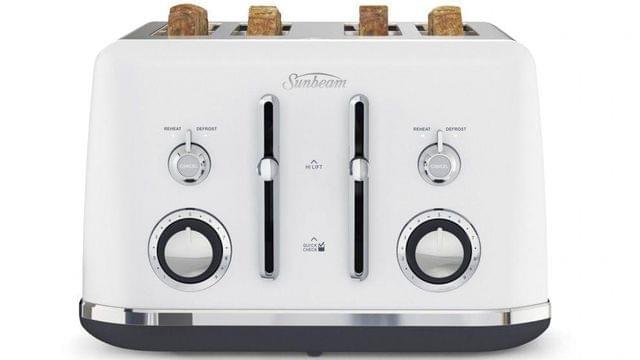Sunbeam Alinea 4 Slice Toaster - Ocean Mist White