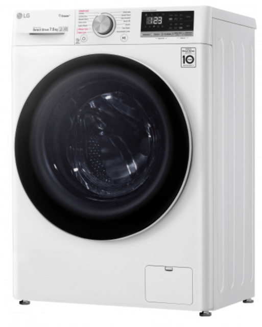 LG 7.5Kg Front Load Washer 4* Water TCT - White
