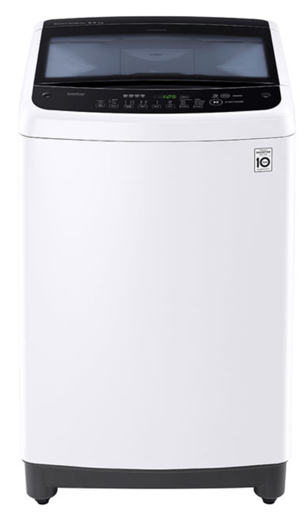 LG 7.5Kg Top Load Washer 6 Motion Direct Drive Wht