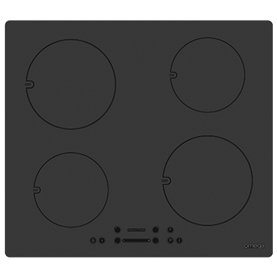Omega 60CM 4 Zone Induction Cooktop - Black Glass