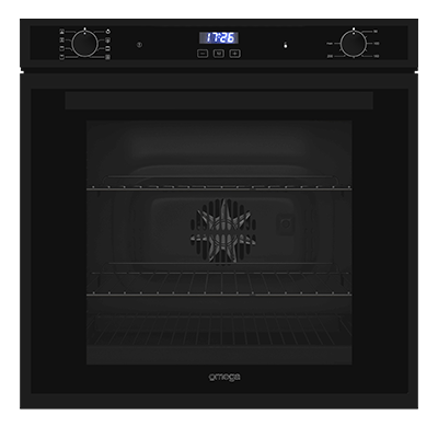 Omega 60cm Electric oven 8 Functions Matte Black