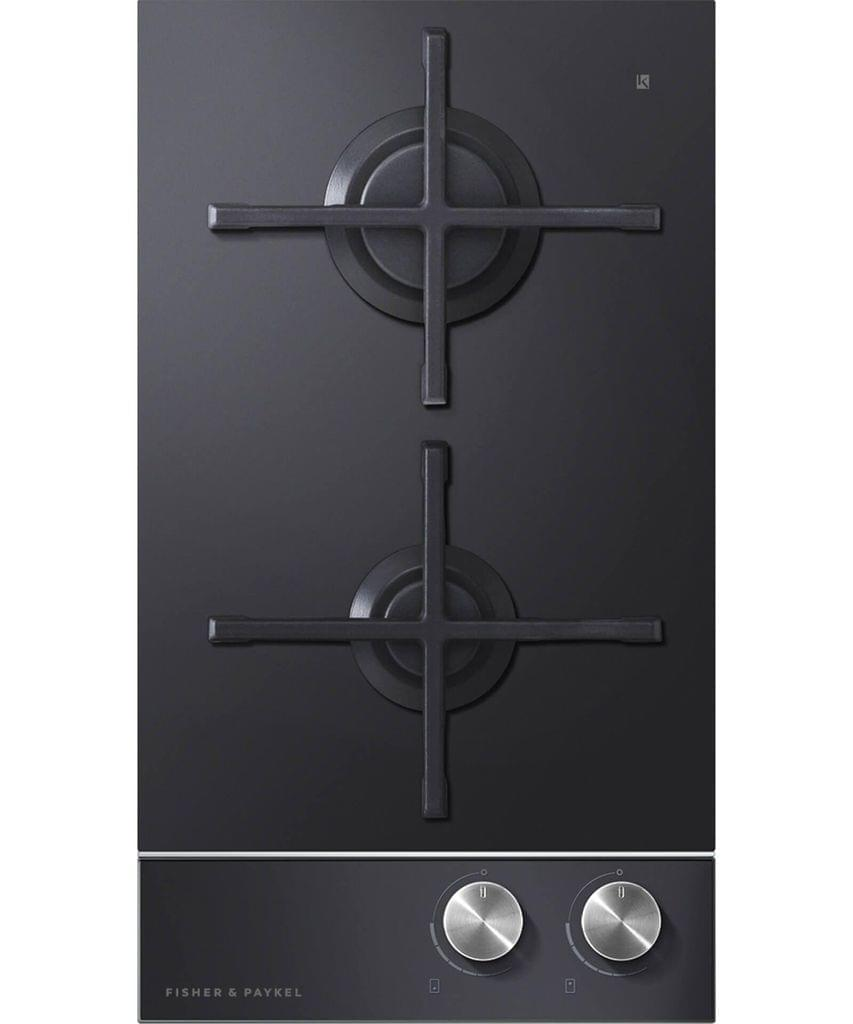 Fisher & Paykel  30cm 2 Burner Gas on Glass Cooktop F/Fail S/S Trim