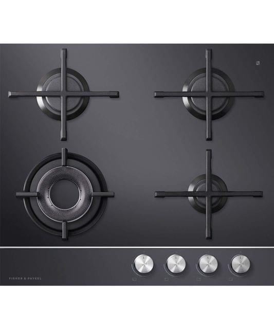 Fisher & Paykel  60cm 4 Burner Gas on Glass F/F Wok Cooktop
