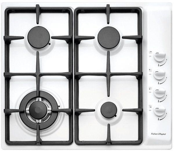 Fisher & Paykel  60cm Classic Gas Wok Cooktop F/F White