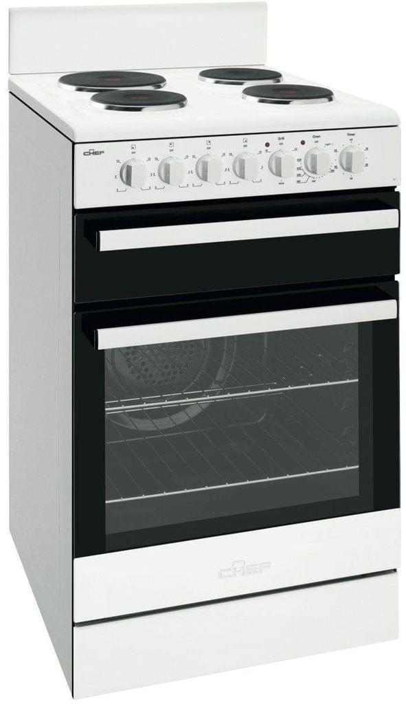Chef 54cm Electric F/F Oven Upright Seperate Grill 4x S