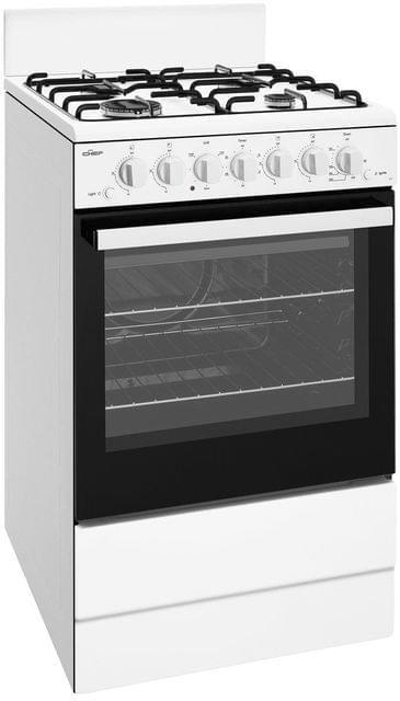Chef 54cm Upright Grill in Oven 4x Brnr Enamel - LPG