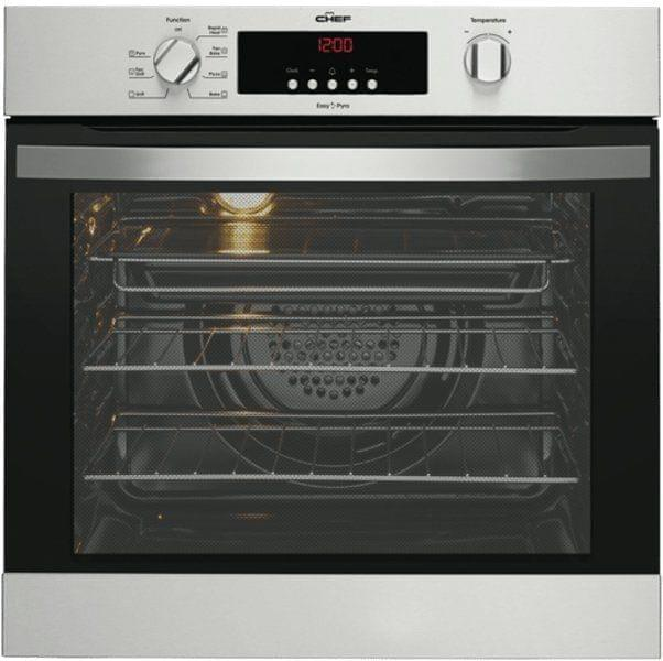 Chef 60cm Pyrolytic Oven 7 Functions 80L S/S
