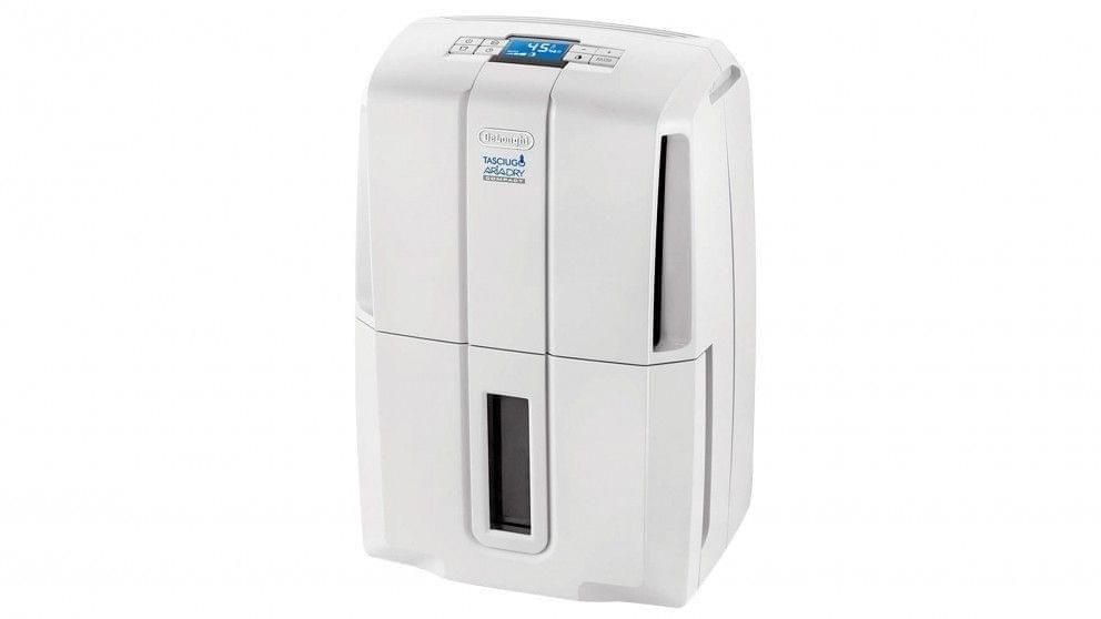 DeLonghi 30L AriaDry Compact Dehumidifier - White