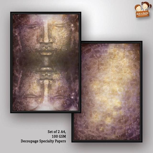 Bob N Betty Decoupage Paper - Next to Silence 3 ( Buddha Series)