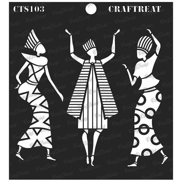 CrafTreat Stencil - Egyptians