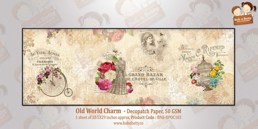 Bob N Betty Old World Charm - Decopatch Paper