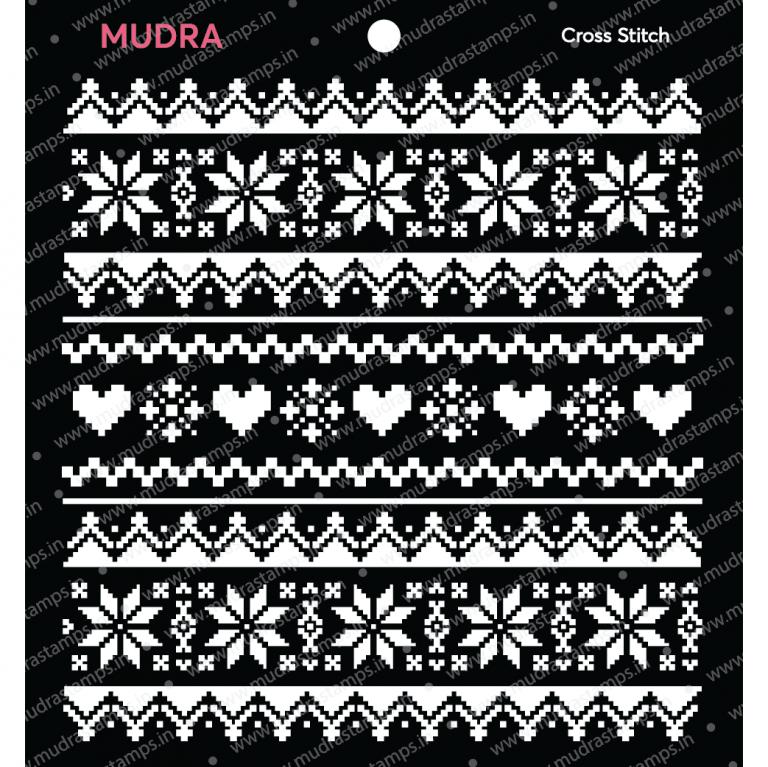 Mudra Stencil - Cross stitch