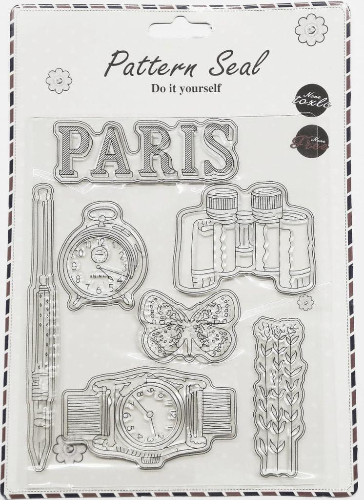 Clear Stamps Imported - Paris Time