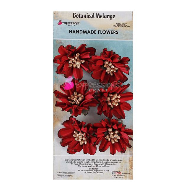 Expressions Craft-Botanical Melange- Wriggled Flower Red