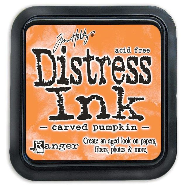 "Distress Ink Pad 3""*3"" - Carved Pumpkin"
