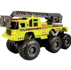 Maisto Quarry Monster Series, Emergency Rescue Truck, Motorized 6-Wheeler, Multi-color