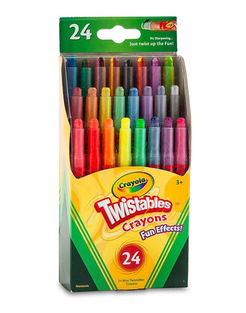 Crayola Mini Twistables Crayons, Fun Effects, Pack Of 24