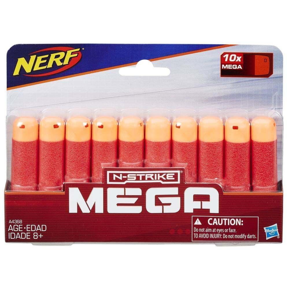Nerf N-Strike Elite Mega 10 Dart Refill, Multi Color