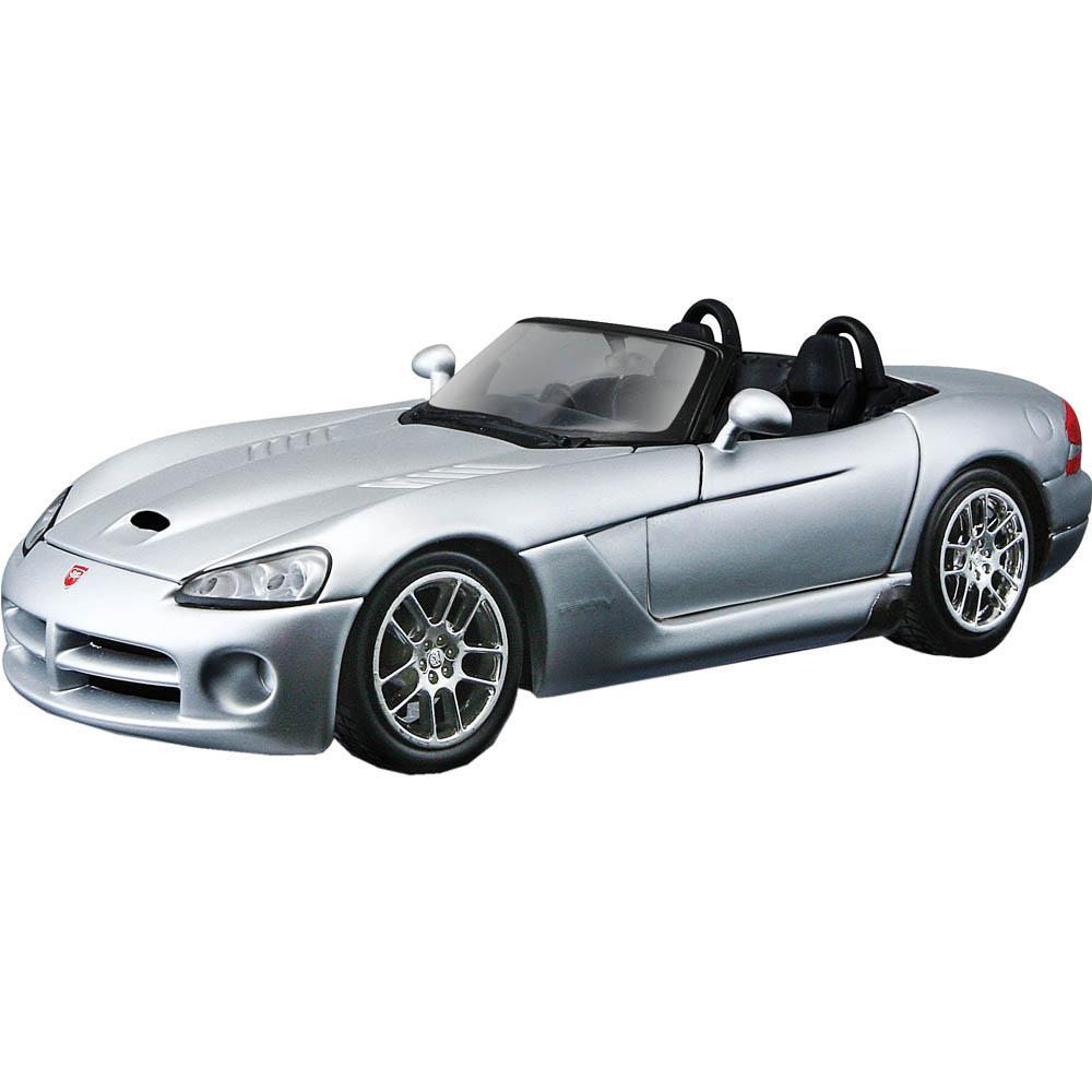 Maisto Metal Kruzerz, 2003 Dodge Viper SRT-10, Grey 1:24 Die-cast Toy Car Model