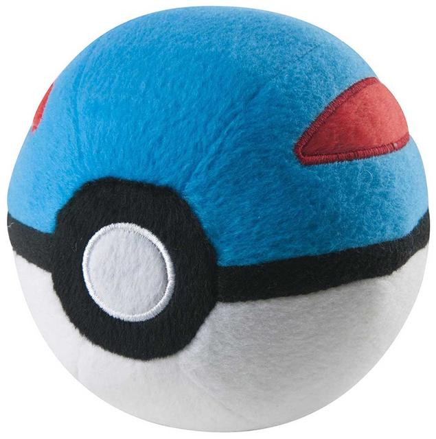 Pokemon Plush Master Pokeball, Blue, Red & White