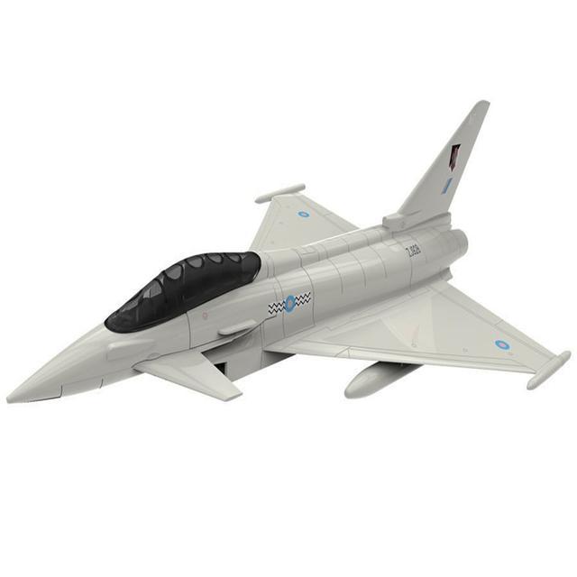 Airfix Quick Build Eurofighter Typhoon Aircraft Model Kit, No. J6002, Multi Color