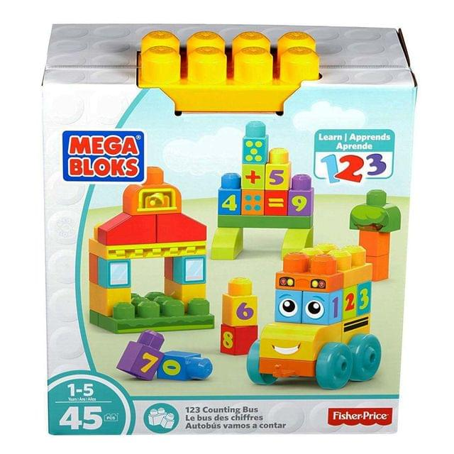 Mega Bloks 123 Counting Bus, 45 Pieces Multi Color