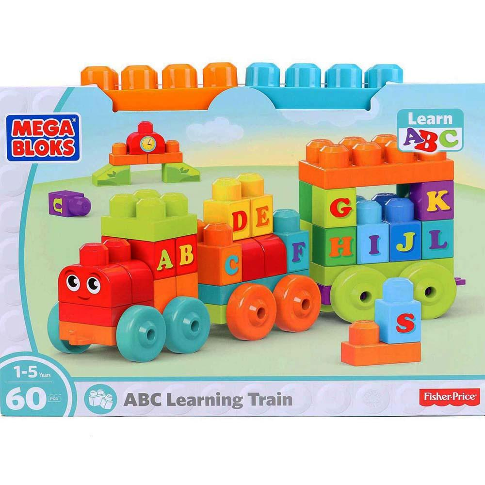 Mega Bloks Abc Learning Train, 60 Pieces Multi Color
