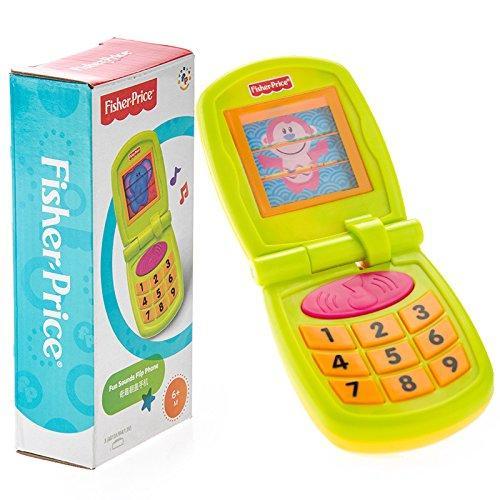 Fisher Price Fun Sounds Flip Phone, Multi Color