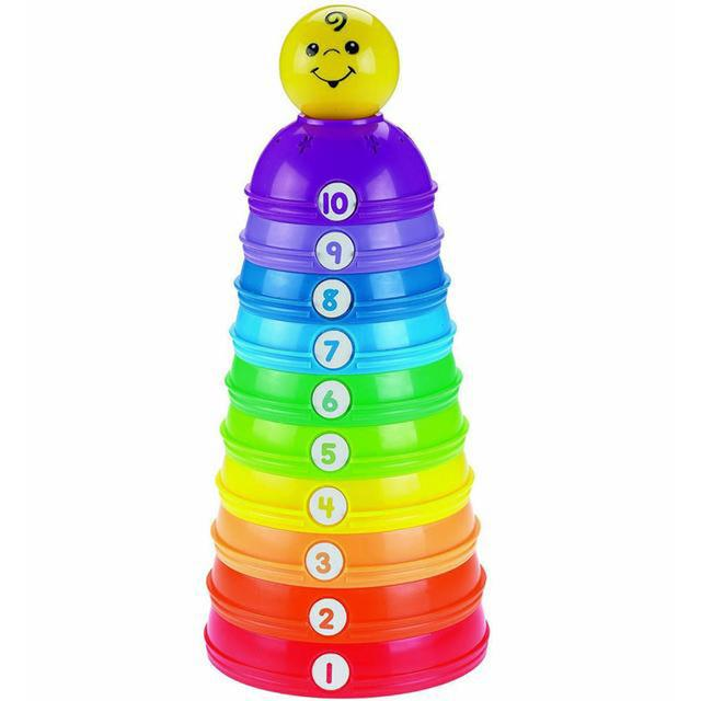 Fisher Price Brilliant Basics Stack and Roll Cups