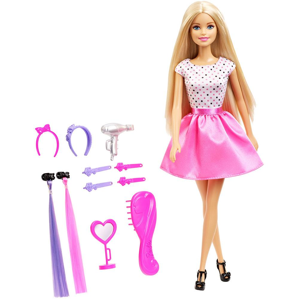 Barbie Doll and Hair Playset, Multi Color