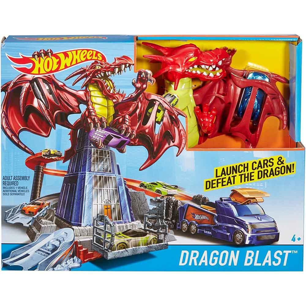 Hot Wheels Dragon Blast Playset, Multi Color