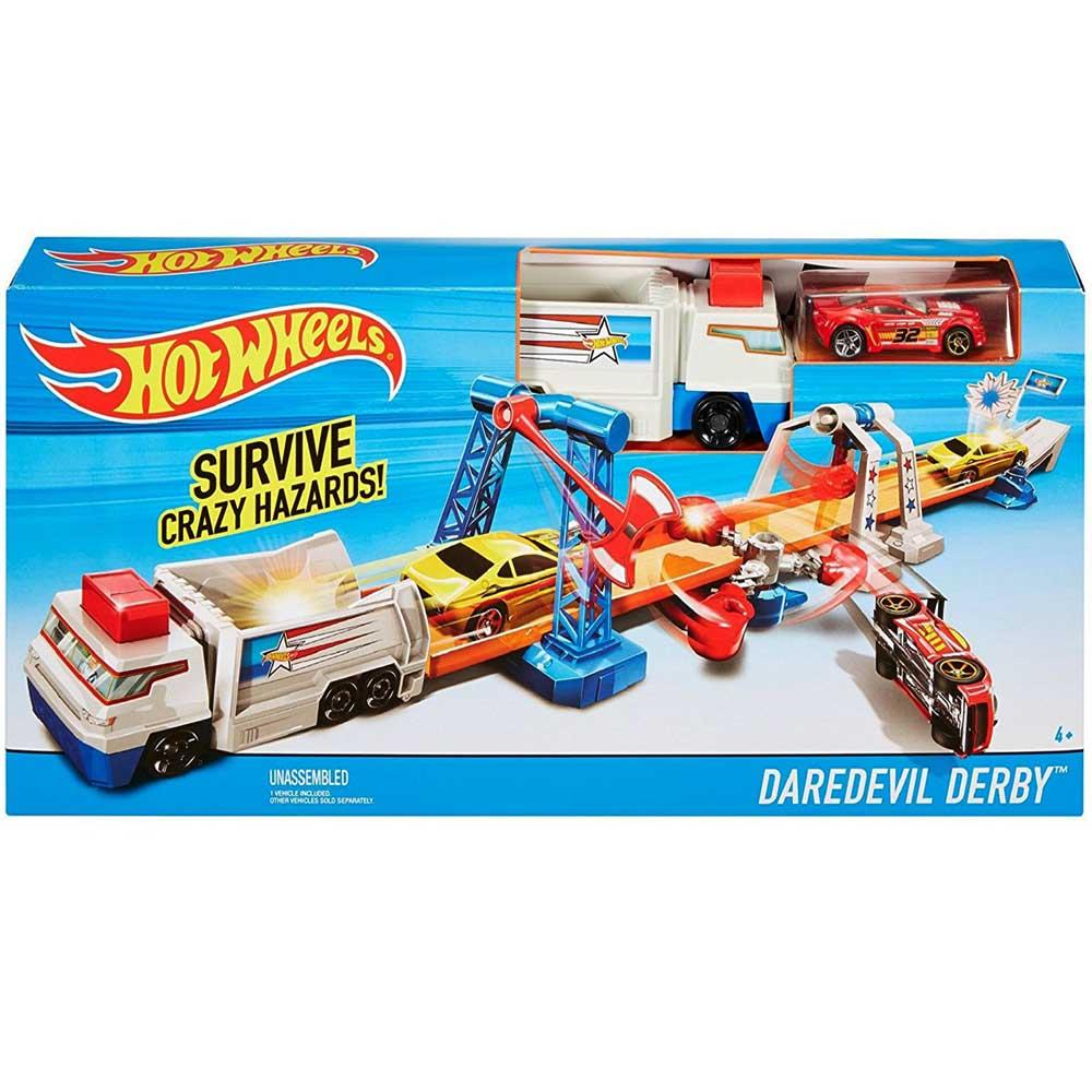 Hot Wheels Daredevil Derby Playset, Multi Color