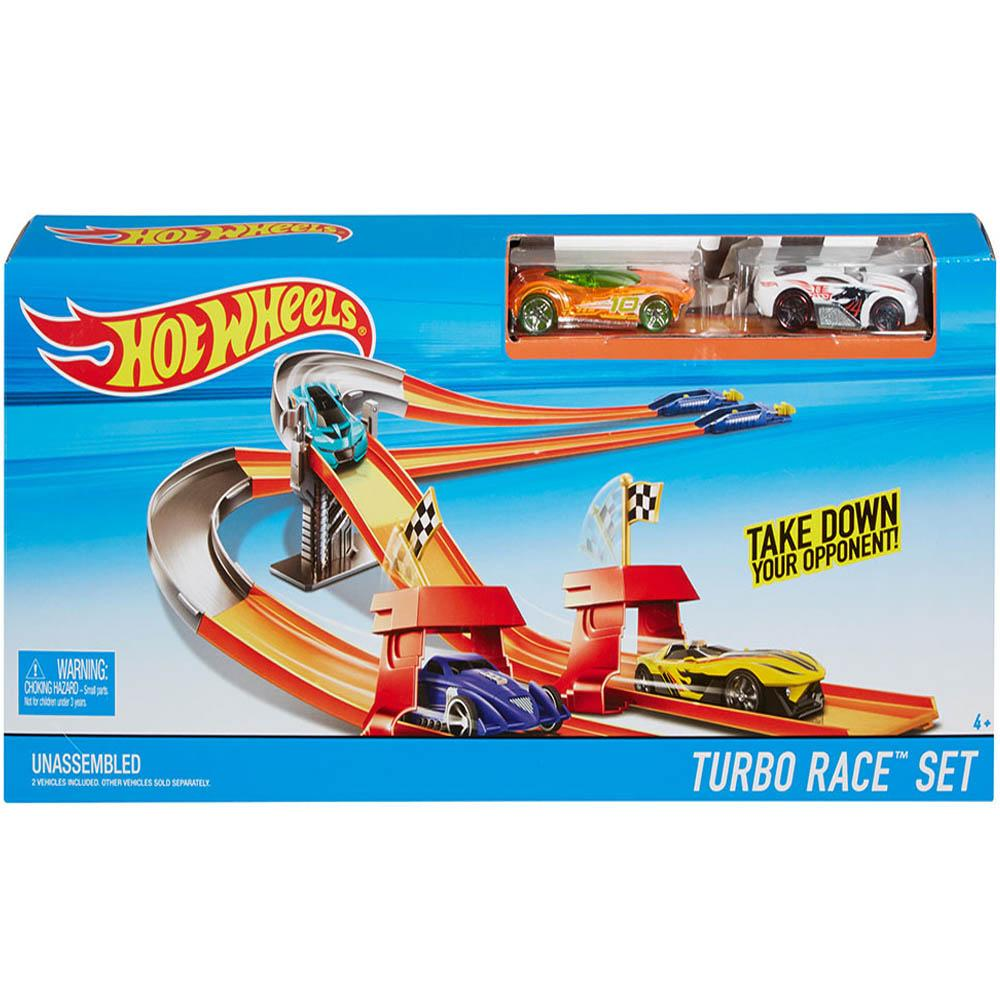 Hot Wheels Turbo Race Set, Multi Color