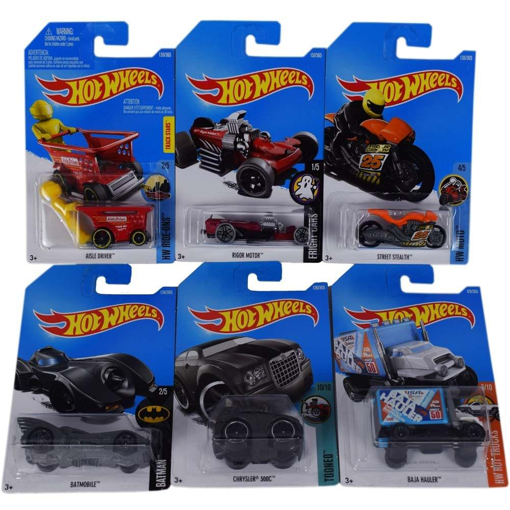 Hot Wheels Clip Strip Cars, Assorted Multi Color