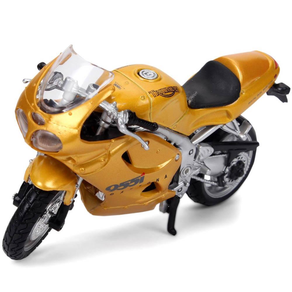 Maisto Triumph Speed Daytona Motorcycle, 1:18 Scale Die Cast Metal