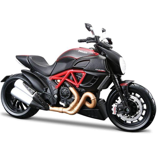 Maisto Ducati Diavel Carbon Motorcycle, 1:12 Scale Die Cast Metal