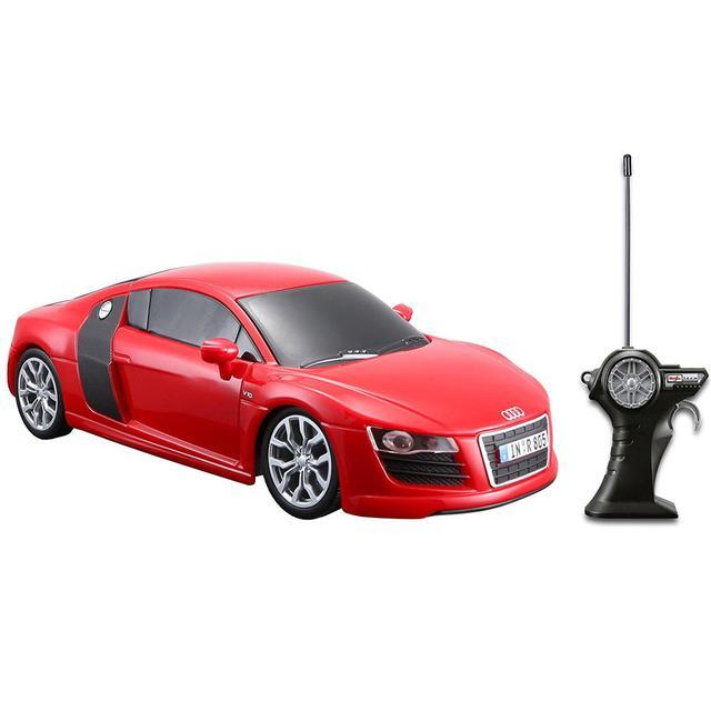 Maisto Tech 2009 Audi R8 V10 Remote Control Car, Red 1:24 Scale Die Cast Metal