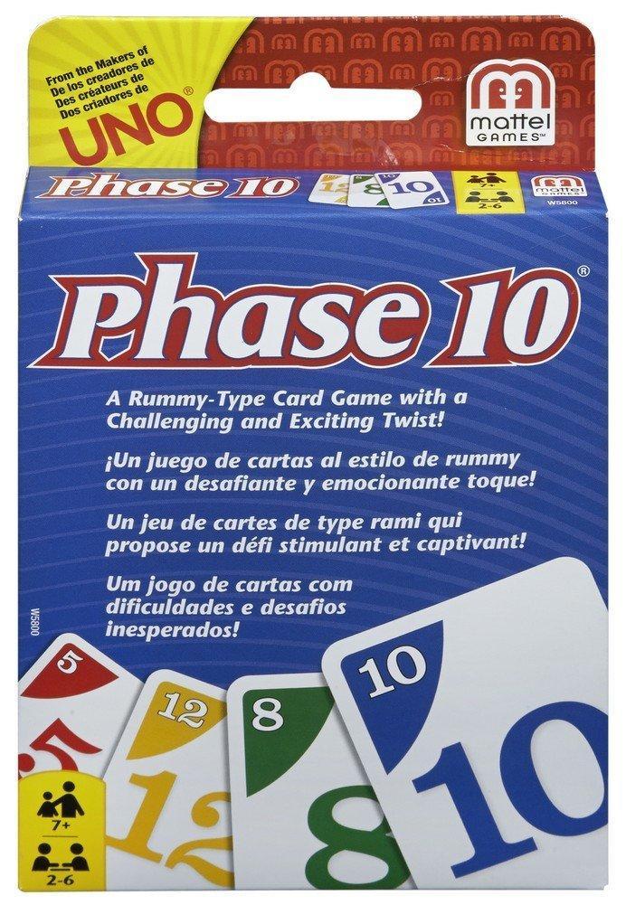 Mattel Phase 10 Card Game Multi Color