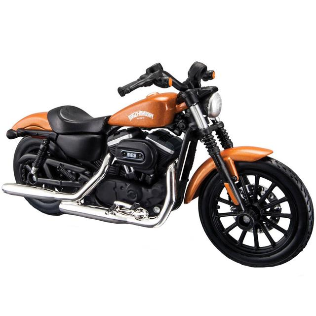 Maisto Harley Davidson 2014 Sportster Iron 883 Orange Color, 1:18 Scale Diecast Motorcycle