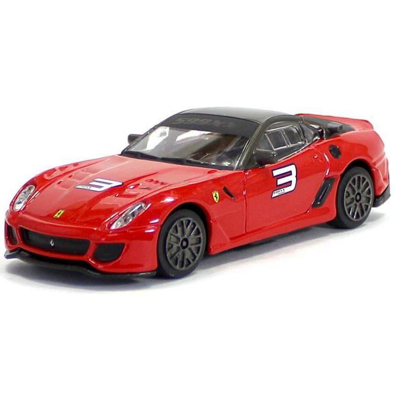 Burago Ferrari 599xx Red Color, 1:43 Scale Die Cast Metal Collectable Model Car