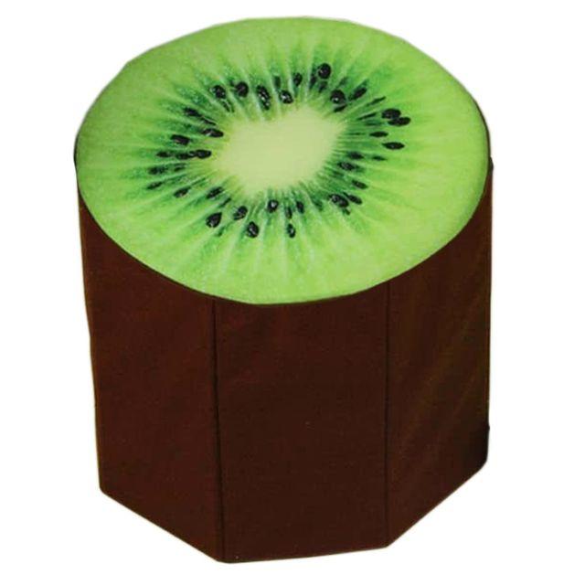 Dimpy Stuff Foldable Kids Stool with Soft Seat - Kiwi Fruit Theme