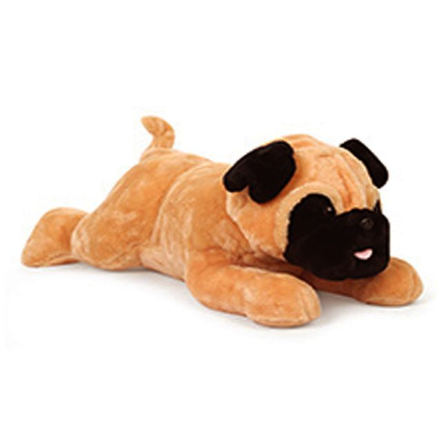 Dimpy Stuff Cute Lying Pug Dog Premium Stuff Toy Brown Color