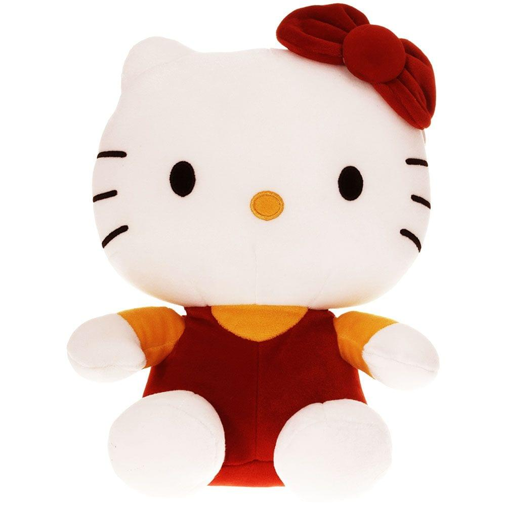 Dimpy Stuff Hello Kitty Stuff Toy 26Cm Red Color