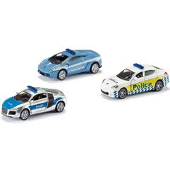 Siku Gift Set Police Set of 3 Die Cast Cars No 6302 Multi Color