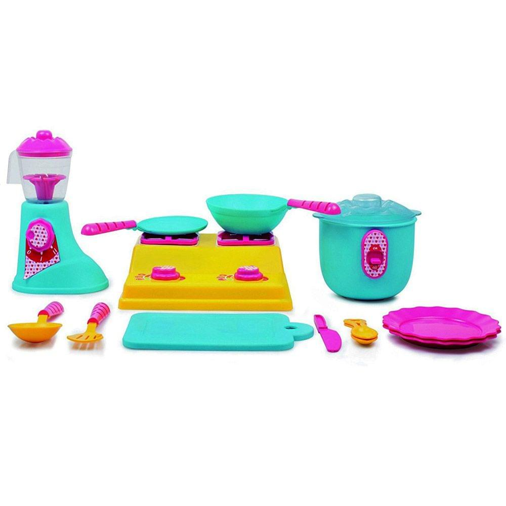 Giggles Kitchen Set Deluxe Multi Color