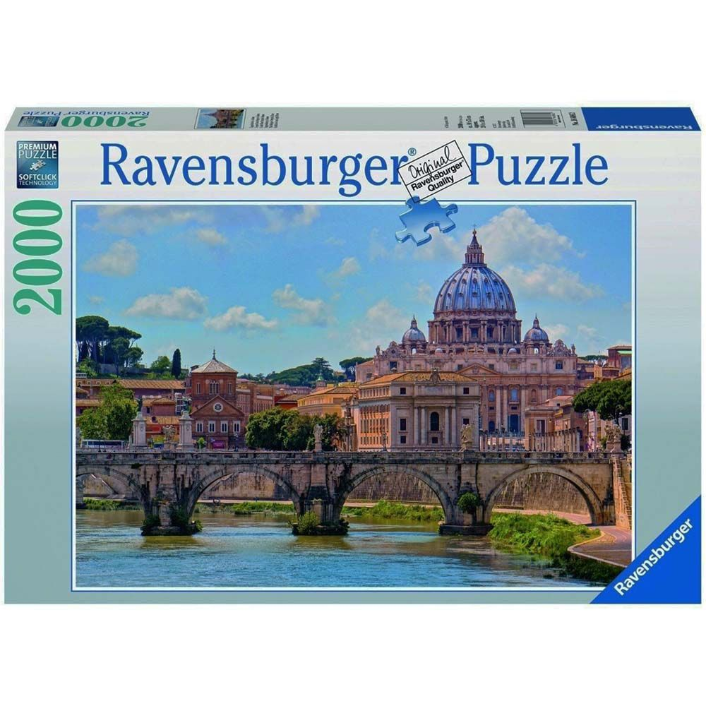 Ravensburger Puzzles The Bridge of Angels Rome 2000 Pieces Multi Color
