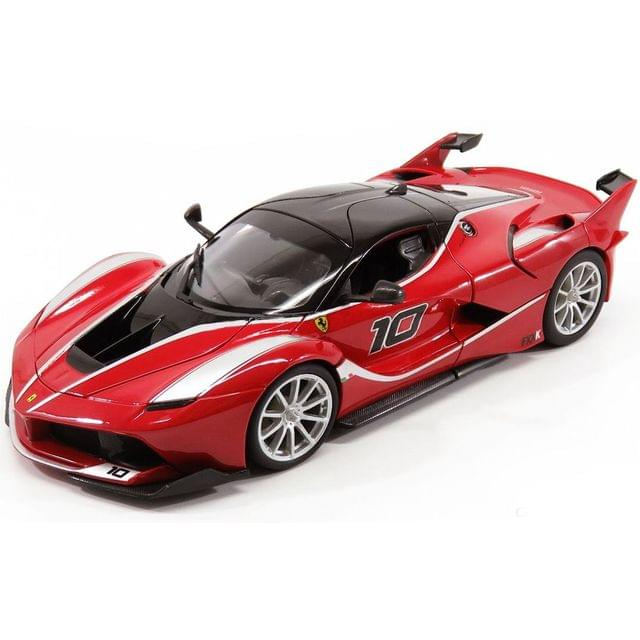 Burago Ferrari FXX K Red Color, 1:18 Scale Die Cast Metal Collectable Model Car