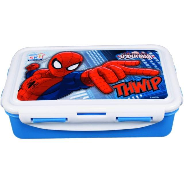 Ski Homeware Marvel branded Lunch Tiffin Box 3 Piece Set For Boys Multi Color Assorted Characters