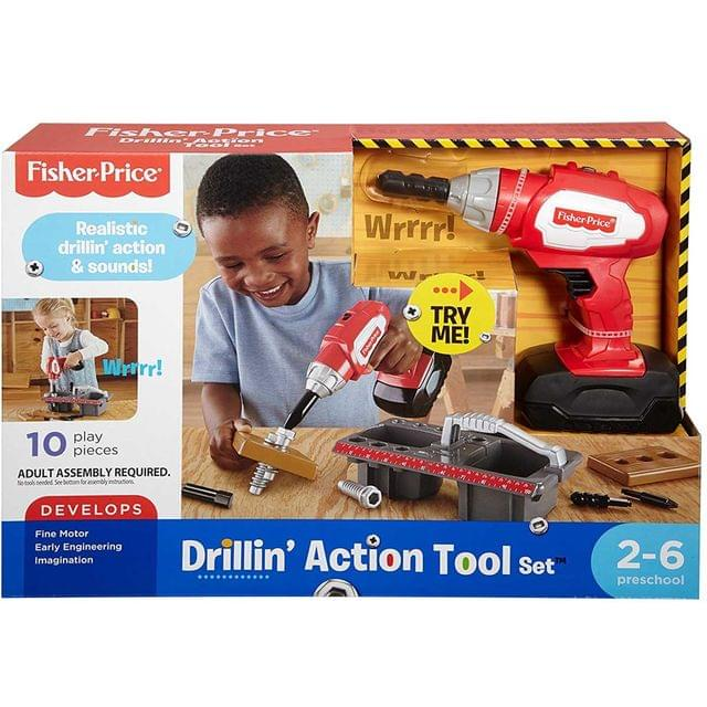 Fisher Price Drillin Action Tool, Multi Color